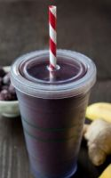 Green Smoothie With Blackberries